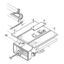 PROXXON 28070-80 Schraube Skalengehäuse für Feinschnitt-Tischkreissäge FKS/E