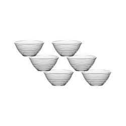 LAV Dessertschale Glasschalen Dessertschale Vorspeise Gläser 200 cc, Glas, (Set, 6-tlg) beige