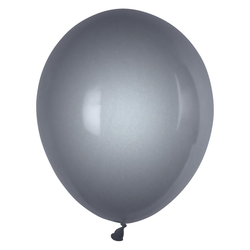 Luftballons silber Ø 250 mm, Größe 'M', 10 Stk.