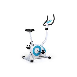 KLARFIT Fahrradtrainer Mobi FX 250 Fahrrad-Heimtrainer Ergometer Pulsmesser max. 100 kg weiß/bl weiß