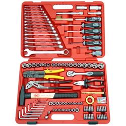 FAMEX Werkzeugkoffer 136-20, 197-tlg. Universal-Set, geeignet für Kfz rot