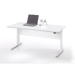 ebuy24 Schreibtisch Prisme Schreibtisch elektronisch heben/senken Weis