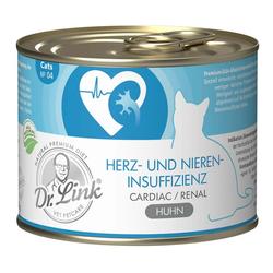 Dr. Link Katzenfutter Spezial-Diät Herz-/Niereninsuffizienz Huhn - 6  x 200 g