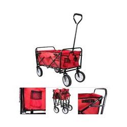 ® Faltbarer Bollerwagen rot Handwagen Klappbar - Grafner