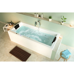 Emotion Whirlpool-Badewanne Unity 200 Whirlpool Set mit der Befüllung über den Überlauf