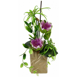 Kunstpflanze Seerose Seerose, I.GE.A., Höhe 48 cm