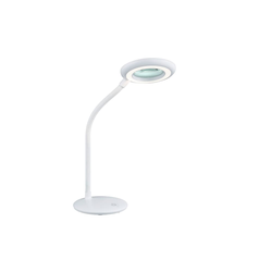 Reality Leuchten LED-Lupentischleuchte Dori in weiß
