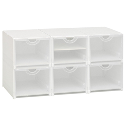 Schuhboxen , 4er- oder 6er Set weiß