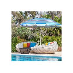 COSTWAY Sonnenschirm Strandschirm, Marktschirm, Gartenschirm, Terrassenschirm, mit Verankerung, für Garten, Strand, Outdoor blau