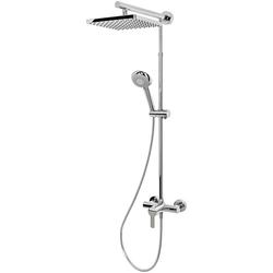 Schulte Duschsystem EP DuschMa Cl Einhebelm Kopfb ecki, Höhe 155,4 cm, mit Einhebelmischer