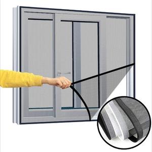 Ezoon Fliegengitter-Netz, Katzen-Sicherheitsnetz für Fenster, halbtransparent, vollständiger Rahmen, Katzennetz, Insektenschutz, mit selbstklebendem Klettverschluss
