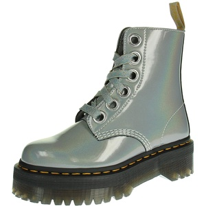 Dr. Martens 26227040 VEGAN Molly PRYSM - Damen Schuhe Stiefel - Silver, Größe:38 EU