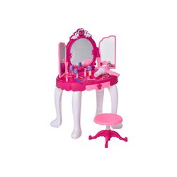 HOMCOM Schminktisch Kinderschminktisch mit Spiegel und Musik