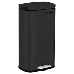 SONGMICS Mülleimer LTB03BK, 30 L Abfalleimer mit Pedal, geruchsdicht und hygienisch, schwarz