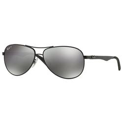 RAY BAN Sonnenbrille CARBON FIBRE RB8313 schwarz S