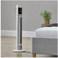 [in tec] Turmventilator Standventilator Säulenventilator Fernbedienung silber