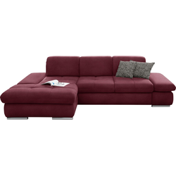set one by Musterring Ecksofa SO 4100, Recamiere links oder rechts, wahlweise mit Bettfunktion rot