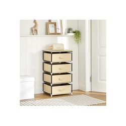 SONGMICS Aufbewahrungsbox RLG14M, Aufbewahrung Schubladenschrank, Stoffschrank, beige