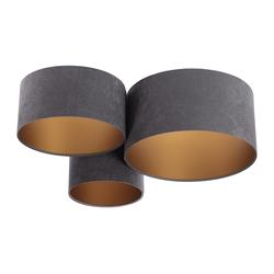 Kiom Deckenleuchte PlaMian dark grey & gold Ø 91cm