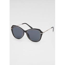 Gin Tonic Retrosonnenbrille schwarz