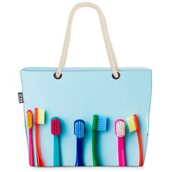 VOID Strandtasche (1-tlg), Zahnbürsten Zähne Bad Zahnbürsten Zähne putzen anleitung Bad Zahnarzt