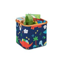 relaxdays Aufbewahrungskorb Stoff Aufbewahrungsbox Kinder blau