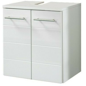 Waschbeckenunterschrank RIMINI Waschtisch Badunterschrank 2 Türen 50 cm weiss