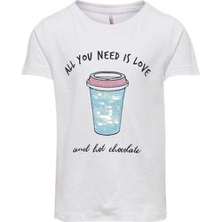 KIDS ONLY T-Shirt T-Shirt KONCINA für Mädchen, Organic Cotton weiß 122/128
