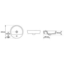 CORNAT Aufsatzwaschbecken Caspia Ring (Set), inkl. Einhebelmischer