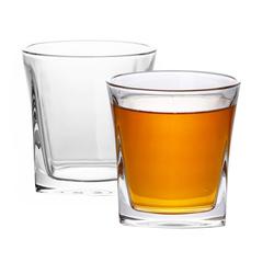 Intirilife Whiskyglas, Glas, 2x Whisky Glas in KRISTALL KLAR 'VINTAGE'- Old Fashioned Whiskey Kristallglas