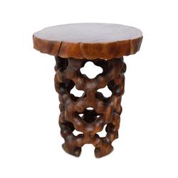 Oriental Galerie Couchtisch Massiver Tisch Teakholz Dunkelbraun 100 cm, Handarbeit