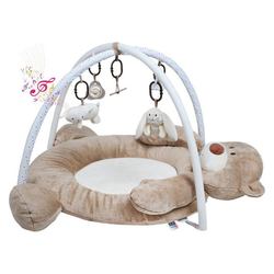 Caretero Spielmatte Babymatte Spielmatte Kinder Caretero Play-Center, Teddy Bär Spielbogen mit Mobile