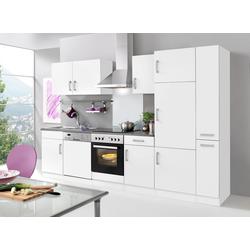 HELD MÖBEL Küchenzeile Toronto, mit E-Geräten, Breite 310 cm weiß