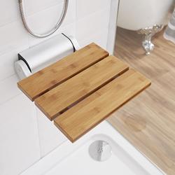 Duschsitz zur Wandmontage Bambus - Luxusduschsitz aus Holz, von Hudson Reed