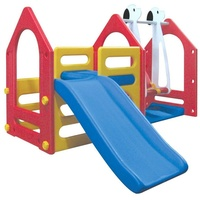 LittleTom Spielhaus mit Rutsche und Schaukel 13080
