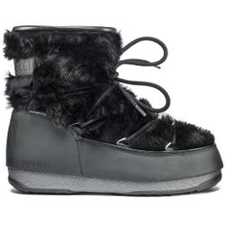 Moon Boot - Moon Boot Monaco Low Fur WP Black - Après-ski - Größe: 37