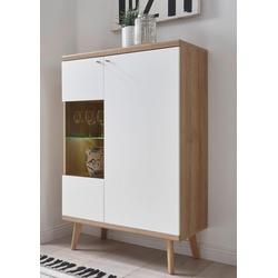 andas Vitrine Merle im skandinavischen Design, Höhe 134 cm
