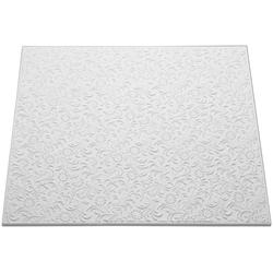 Decoflair Deckenplatten Deckenplatte T107, BxL: 50x50 cm, (Set, 80-tlg) in Putzoptik