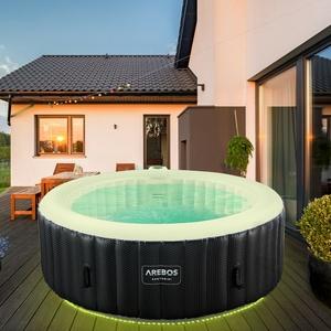 AREBOS In-Outdoor Whirlpool Spa Pool Wellness Heizung Massage Aufblasbar