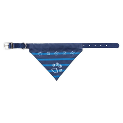TRIXIE Hunde-Halsband Tuch, Nylon blau 1 cm x 24 cm