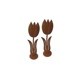 HTI-Line Dekofigur Gartendeko Verena Tulpe 2er Set (2 Stück), Gartendeko