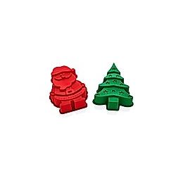 Silikonbackformen Weihnachten  2tlg.
