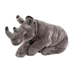 Teddys Rothenburg Kuscheltier Nashorn groß Nino 42 cm liegend (Plüschtiere Nashörner Stofftiere, Stoffnashorn Plüschnashorn)