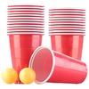 infactory Trinkspiel-Set Bier Pong mit 24 Bechern (je 450 ml) und 2 Bällen