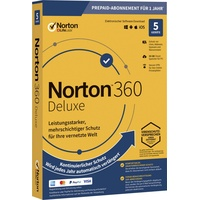 Symantec Norton Life Lock 360 DELUXE 50GB GE 1 USER 5 DEVICE 12MO Jahreslizenz, 5 Lizenzen Windows, Mac, Andr