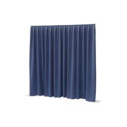 Wentex Pipes & Drapes Vorhang Molton, 3x4m, 300g/m², blau
