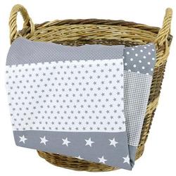 Ullenboom Babydecke & Kuscheldecke 70X100 cm Graue Sterne