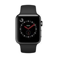 Watch Series 3 (GPS + Cellular) 42mm Edelstahlgehäuse space schwarz mit Sportarmband schwarz