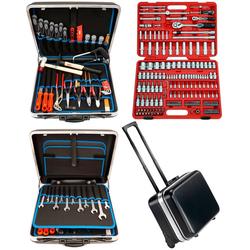 FAMEX Werkzeugset 606-09, (Set, 174-St), im mobilen Werkzeugkoffer