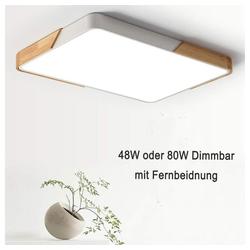style home LED Deckenleuchte, 48W Deckenleuchte Bürolampe dimmbar mit Fernbedienung, 65*45*5 cm 45 cm x 65 cm x 5 cm